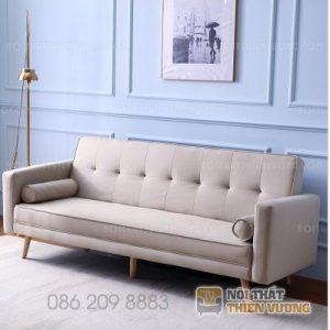 Sofa văng gỗ tự nhiên bọc nỉ đẹp – SF63 là dòngsofa văngmang phong cách hiện đại với kiểu đệm rít múi là một trong những mẫu sofa văng hot nhất hiện nay.