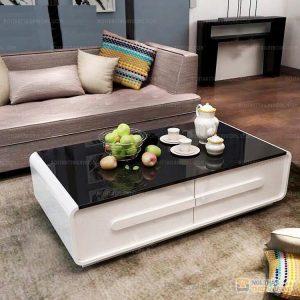 Bàn trà sofa kính 2 ngăn kéo i tại Nội Thất Thiên Vương mang tới vẻ đẹp đẳng cấp và cực kỳ sang chảnh. Một không gian mới, một sức sống mới, vẻ đẹp sang trọng mà gia chủ nào cũng muốn có trong phòng khách hiện đại của gia đình mình.