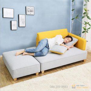 Ghế Sofa gỗ tự nhiên bọc nỉ giá rẻ khu vực Hà Nội– SF64 là dòngsofa có tựa mang phong cách hiện đại với kiểu đệm rít múi là một trong những mẫu sofa có tựa hot nhất hiện nay. Với phong cách hiện đại, màu sắc trẻ trung, chất liệu tốt, bạn hoàn toàn có thể tin chọn.