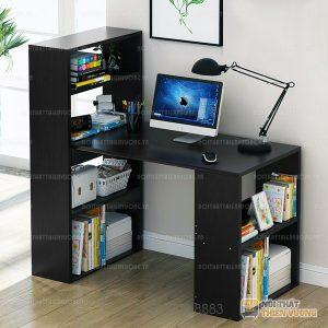 Bàn làm việc, bàn học giá sách có thiết kế thông minh liền giá sách với kích thước phù hợp sẽ là sự lựa chọn tối ưu cho không gian của Bạn. Sản phẩm Bàn làm việc