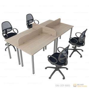 Cụm bàn làm việc làm một trong những sản phẩm được sử dụng nhiều trong các văn phòng giúp tạo sự chuyên nghiệp và gọn gàng hơn, mang lại không gian sáng tạo riêng, tạo hiệu quả đột phá.