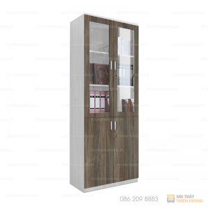 Tủ hồ sơ, tài liệu cho văn phòng hiện đại được sử dụng chủ yếu trong các văn phòng có kiểu thiết kế nội thất hiện đại. Sản phẩm là sự kết hợp hài hòa của các chất liệu gỗ công nghiệp +kính