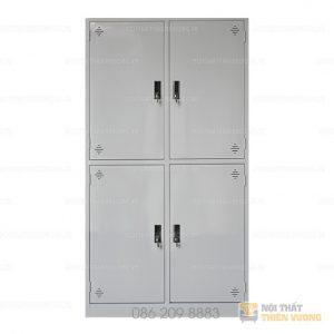 Tủ sắt 4 ngăn TVP-S19 với thiết kế từ thép sơn tĩnh điện màu ghi phù hợp với không gian văn phòng hiện đại. Tủ gồm 4 khoang cánh thép tấm, mỗi cánh có 01 khóa liền tay nắm nhựa riêng biệt. Bên trong mỗi khoang 01 đợt