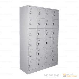 Tủ locker giá rẻ 24 ngăn TVP-L22 được làm từ thép phủ sơn tĩnh điện màu ghi sáng, bền đẹp và an toàn khi sử dụng. Tủ có 24 ngăn riêng biệt để đồ cá nhân hoặc để phân chia các vật dụng khác nhau.
