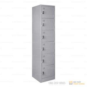 Văn phòng của bạn sẽ không thể thiếu những mẫu tủ locker 6 ngăn giá rẻ đẹp được sử dụng để đựng đồ cá nhân, hồ sơ, tài liệu, tại các văn phòng, cơ quan, nhà hàng, xí nghiệp,...Chiếc tủ được làm bằng thép cao cấp phun sơn tĩnh điện chống trầy xước. Tủ có thiết kế 6 ngăn và có tay nắm kéo, ổ khóa cùng các ngăn để tài liệu riêng biệt.