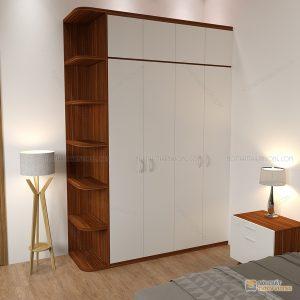 Tủ quần áo hiện đại vân gỗ là dòng tủ quần áođượcthiết kế theo phong cách hiện đại với tông màu trắng kết hợp thùng màu vân gỗ 6041 sẽ giúp phòng ngủ của bạn trở lên sang trọng và tươi sáng hơn, góp phần làm cho không gian phòng ngủ trở nên hiện đại và tươi mới hơn.